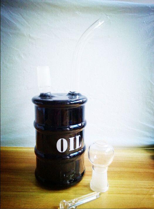 2016 년 석유 드럼 유리 봉 기름 유업 유리 물 파이프 14MM 유리 흡연 파이프 유리 장비 Hookahs 유리 봉