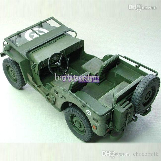 ! Paper Model Cars World War II TheUS Willys MB Jeep