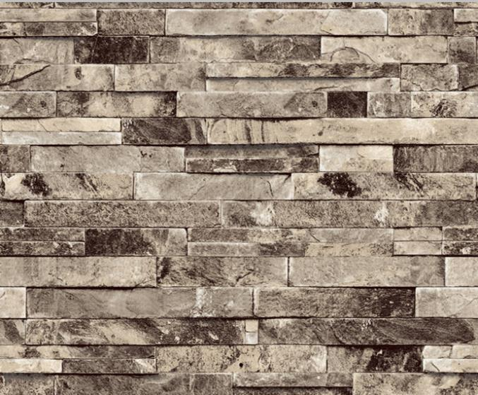New Arrival Vintage Tile Wallpaper 3d Effect Modern Vinyl Stacked Stone Brick Wall Background 10M Roll