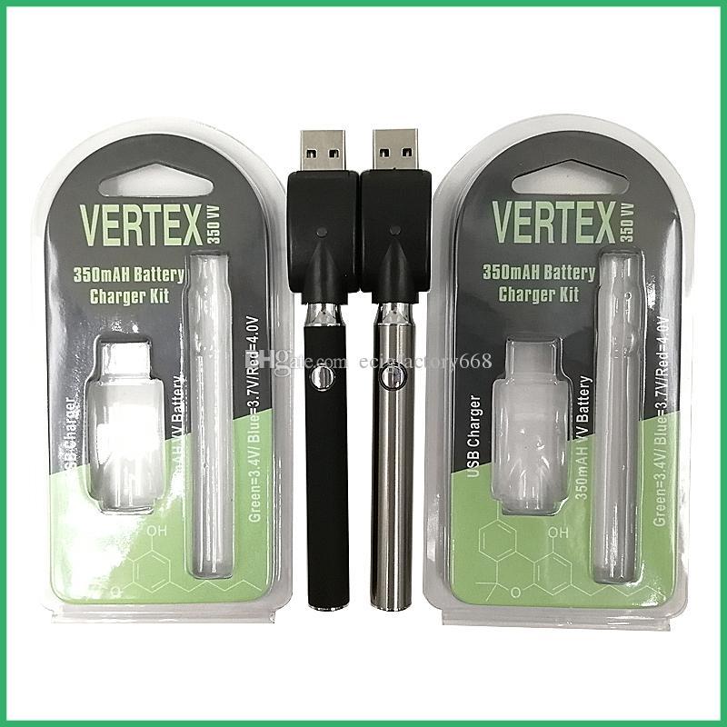 빈 예열 배터리 버튼 가변 가변 전압 O- 펜 BUD 350mAh 증기 펜 510 스레드 왁스 이산화탄소 오일