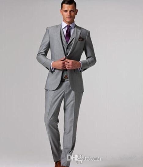 Wedding Suits For Men 2015 Gray Mens Wedding Groom Tuxedo,Tailored ...