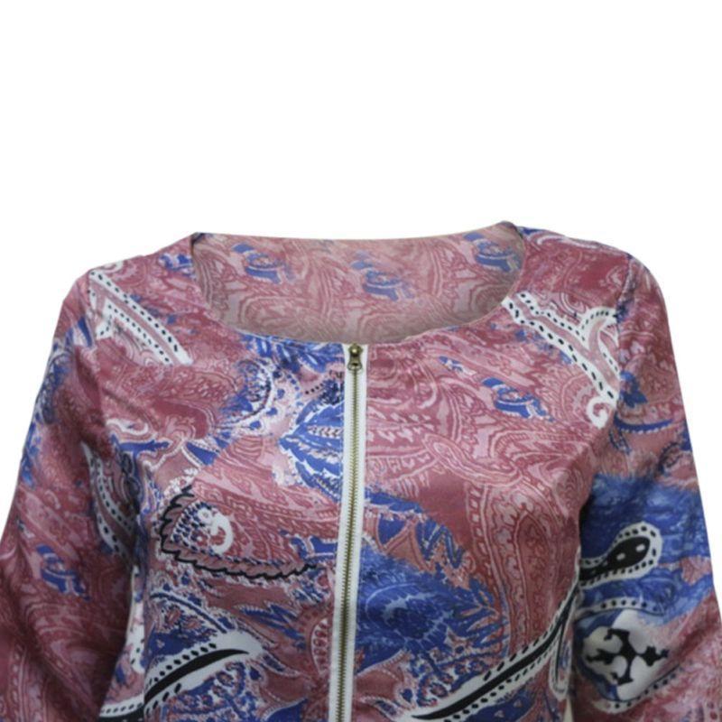 Fashion Vintage Women Ladies Casual Slim Floral Suit Blazer Jacket Coat Outwear
