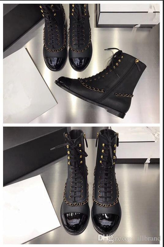 2017 mode chaîne série frenum en cuir spectacle bottes gentillesse chevalier bottes double fermeture à glissière unique britannique flattie femmes bottines