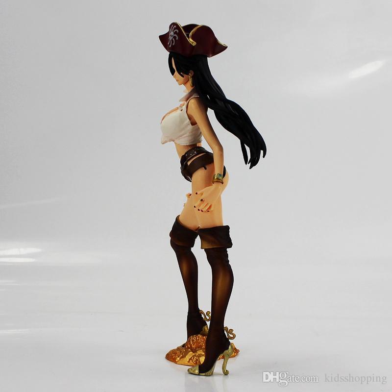 new hot 24cm One Piece Boa Hancock Figure Toy Flag Diamond Ship Hancock Pirate Anime Beauty Model Figurine