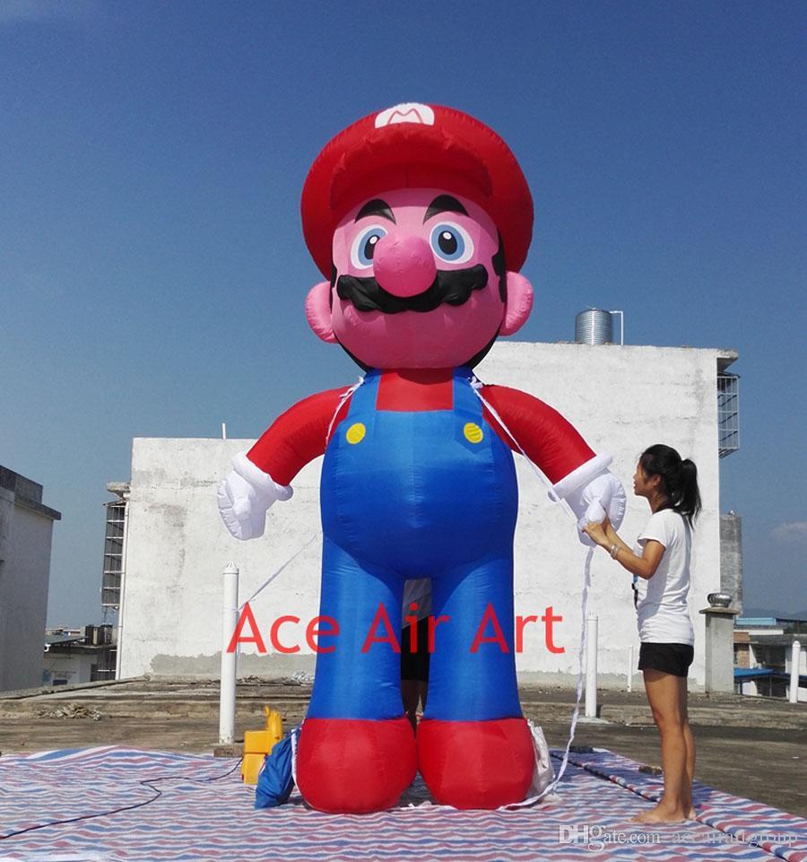 venta caliente hecha por el as de arte al aire de dibujos animados Publicidad inflable Mario