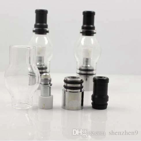 Globo atomizzatore Wax Dry Herb Glass Globe atomizzatore serbatoio con scatola al minuto Set secco erba Vaporizzatore Clearomizer 510 eGo T batteria ECig atb004