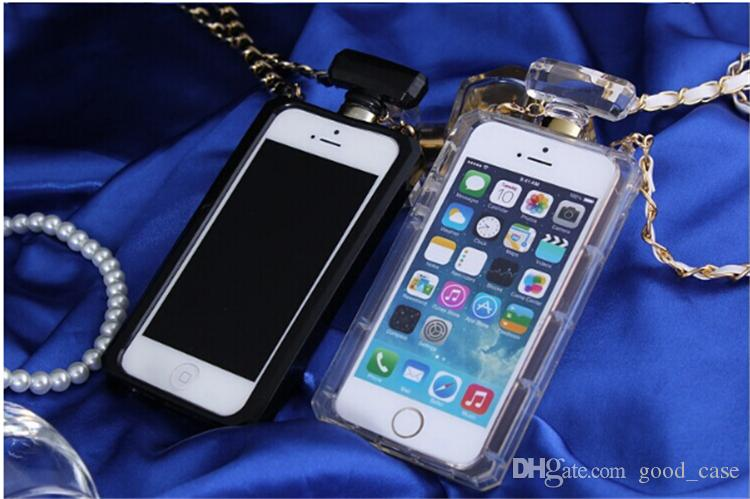 For iphone 7 case Perfume Bottle Cases Luxury women clear Transparent TPU case cover for Iphone 5s se 6 6s plus Samsung note 4 5 S5 S6 edge