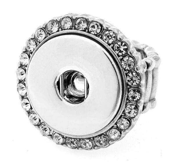 أزياء DIY 18mm وNOOSA خاتم الماس المرأة الزنجبيل التقط زر حزام مجوهرات DIY القطعة التقط زر حلقة هدايا عيد الميلاد