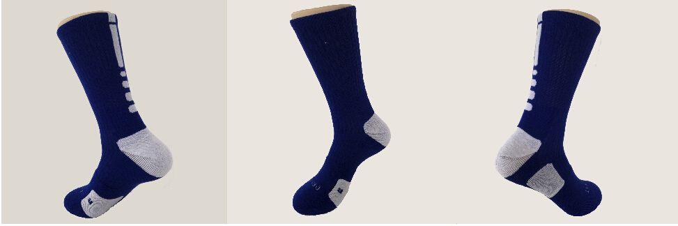 2 adet = ABD Profesyonel Elit Basketbol Çorap Uzun Diz Atletik Spor Çorap Erkekler Moda Sıkıştırma Termal Kış Çorap toptan