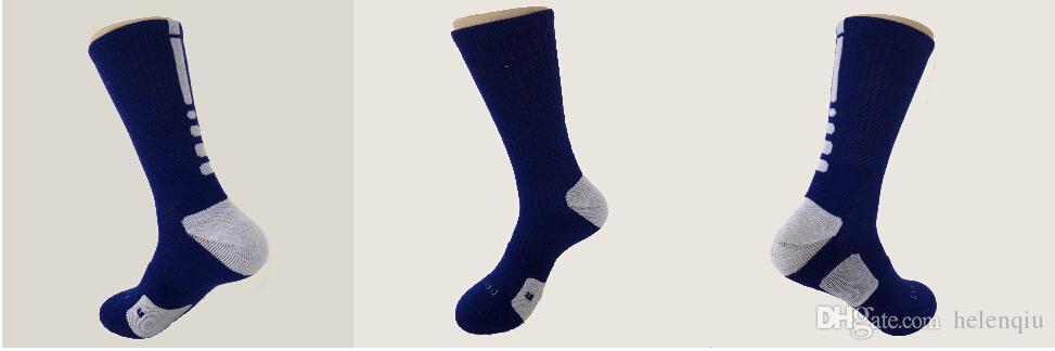 2 unids = 1 par EE. UU. Élite Profesional Calcetines de Baloncesto Larga Rodilla Atlético Deporte Calcetines Hombres Moda Compresión Térmica Calcetines de Invierno al por mayor