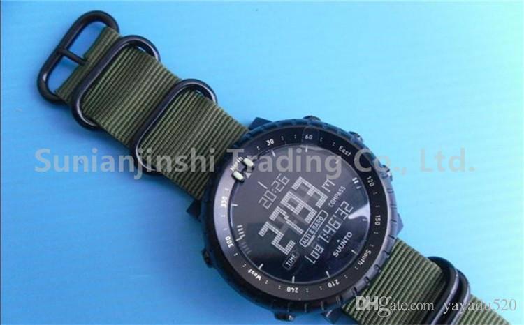 2015 For Suunto Core Watch Band Green 24mm Tactical Nylon