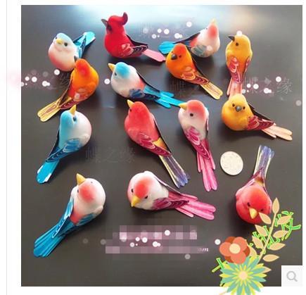 Mini Foam Bird Artificial Bird Home Decoration Handmade Artificial Animal  For Home Deocr U0026gifts