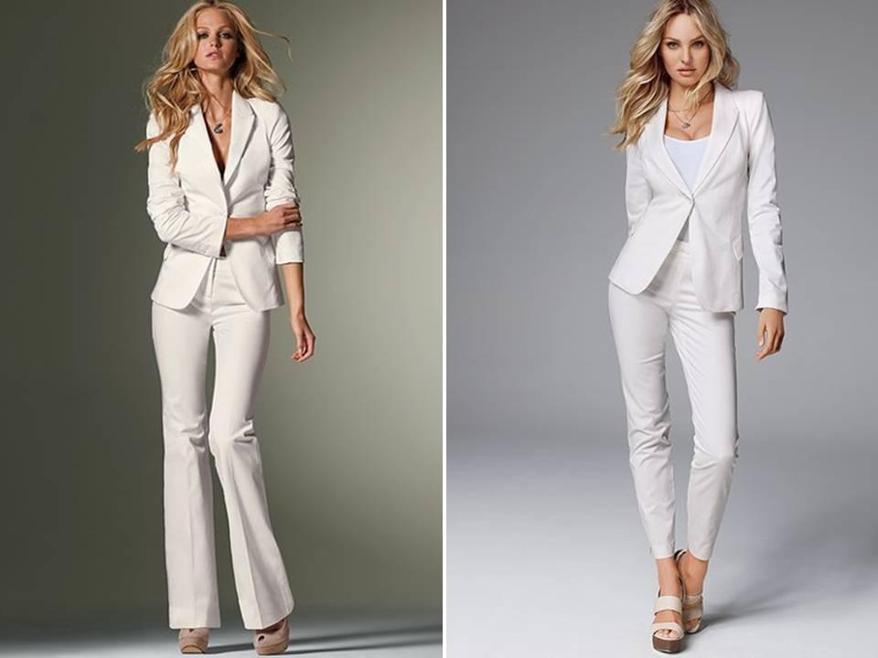 Custom Made White Women Tuxedos Peaked Lapel Suits For Women One ...