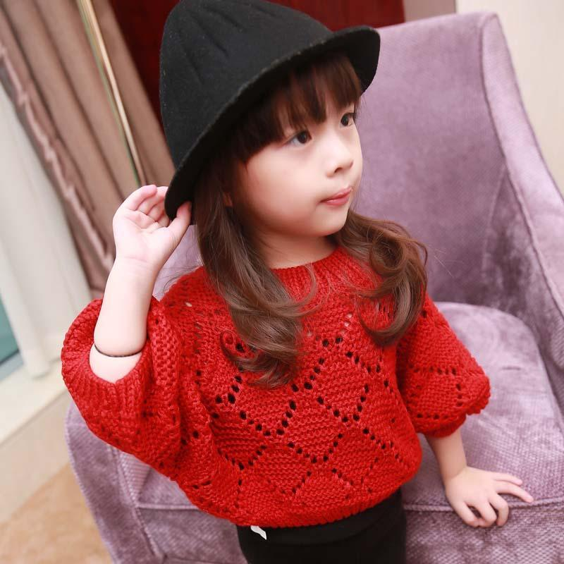 Girl Dress Kids Pullover Knitted Sweaters Child Clothes Kids