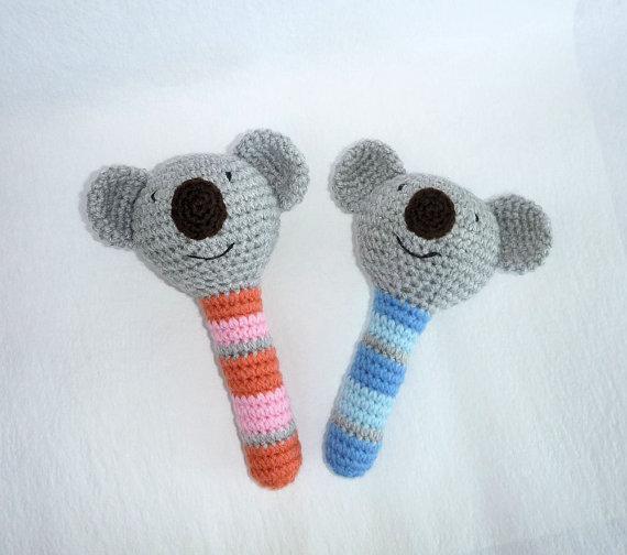 Compre Brinquedo Do Beb Koala Crochet Amigurumi Koala Chocalho Do