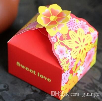 Romantic Hollow out Wedding Gift and favors Box Elegant Pink Luxury Decoration Laser Cut Party Sweet Guest Paper Candy Bag TH143