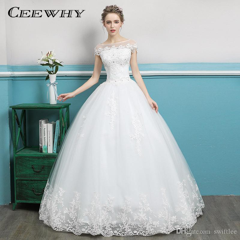 8eece5f49e2 CEEWHY Cap Sleeve Vestido De Noiva Vintage Plus Size Wedding Dresses  Sleeveless Boho Wedding Dress Embroidery Lace Wedding Gowns Wedding Dresses  Sale ...