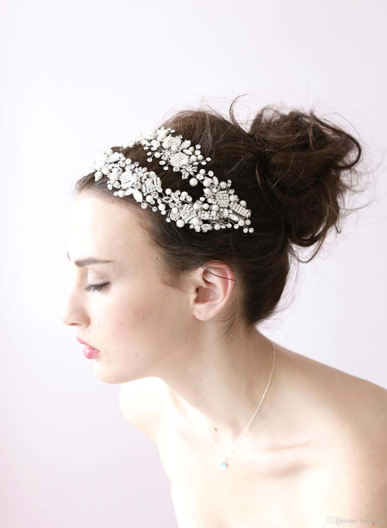 Sparkly beaded crystals wedding crowns 2016 bridal crystal veil sparkly beaded crystals wedding crowns 2016 bridal crystal veil tiara crown headband hair accessories party wedding tiara for party hair clamps hair claw junglespirit Images