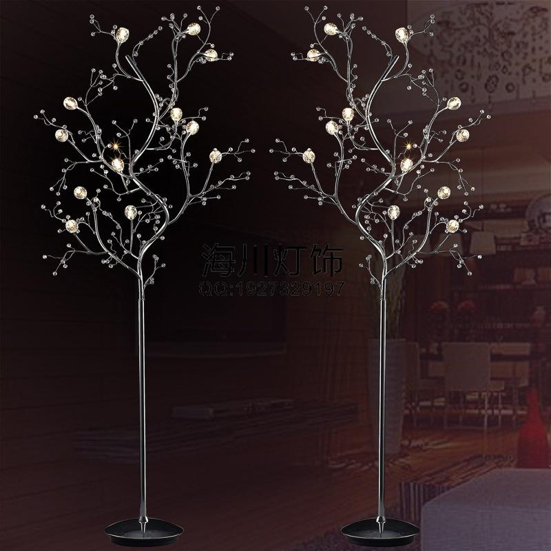 Branch Crystal Floor Lamp Living Room Bedroom Bedside Lamp Modern Aesthetic  Customization Upscale Hotel Standing Lamp Part 2