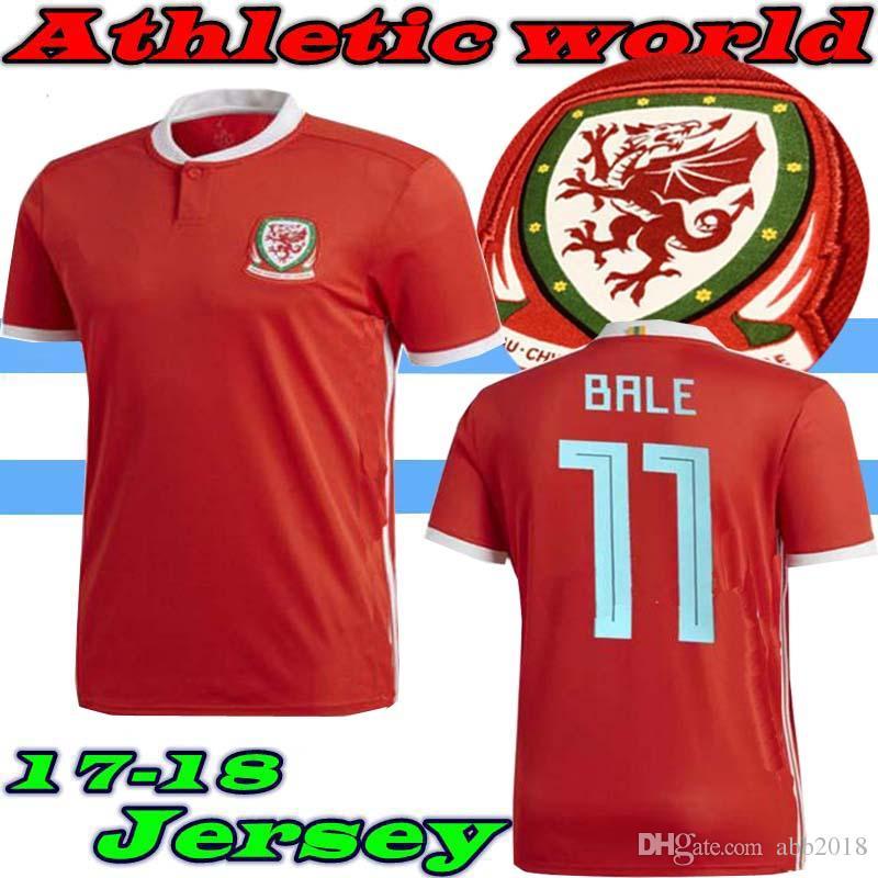 Compre 18 19 Wales Soccer Jersey 10 Aaron Ramsey 11 Gareth Bale Allen  Taylor Ward 9 Robson Kanu 6 Williams Home Away Personalizar Qualquer Camisa  De Futebol ... aac46605772f4