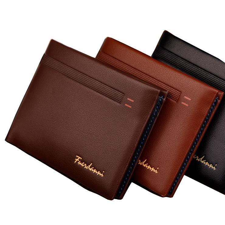 62f06500e618 Fashion New Qulaity PU Leather Men Wallets 3 Fold Business Short Style  Design Black Coffee Photo Bit Card Holder Purse Wallet Visconti Wallet  Luxury Leather ...