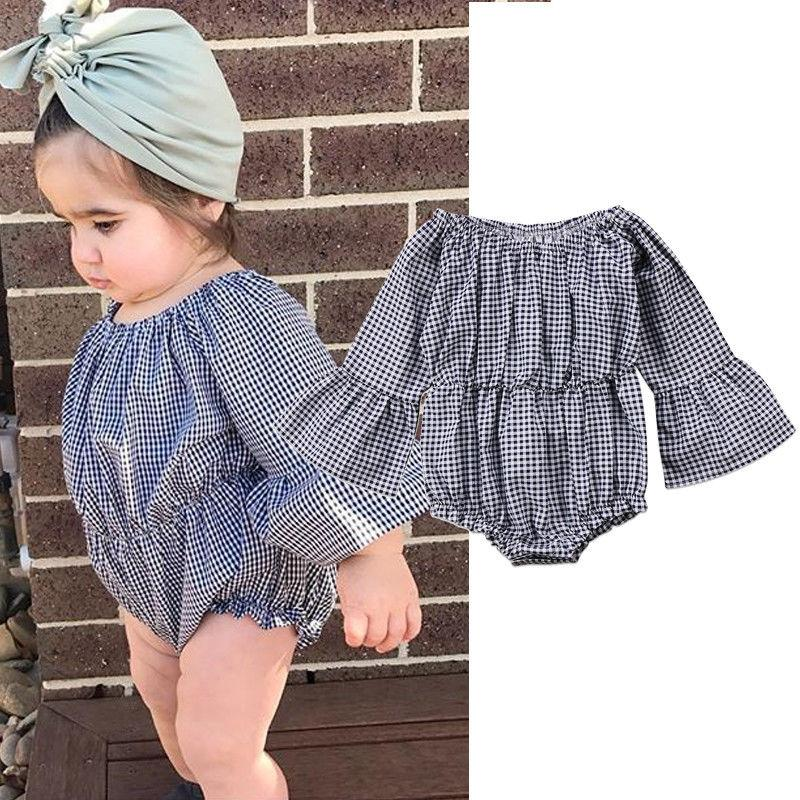 abac9af2 2019 Newborn Baby Romper Overall Girls Boutique Fall Boutique Clothing Suit  Toddler Jumpsuit Infant Pagoda Sleeve Clothes From Zfwholesaler, $9.13 |  DHgate.