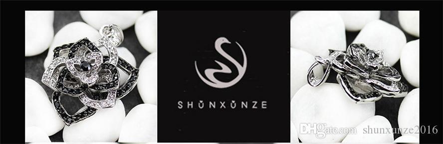 رومانسية جميلة النبيلة السخية MN922 كلاسيكي أبيض وأسود مكعب زركونيا مبيعا النحاس الروديوم مطلي المعلقات المفضلة الأزياء