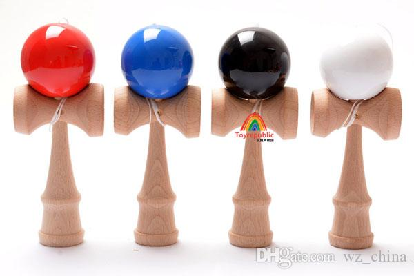 Children Sports Toys Factory Price Spring Jumbo Kendama Ball Japanese Wood Education Game Round Ball 18*6*7cm Cheap