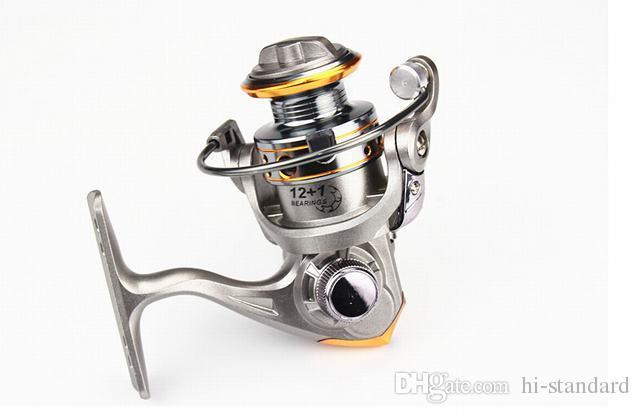 HOT 12 + 1BB DC150 Mini bobines de pêche Spinning Reels L / R échange de main 5.2: 1 Mini Reels Moulinet Gapless avec roulement en métal Haute qualité!