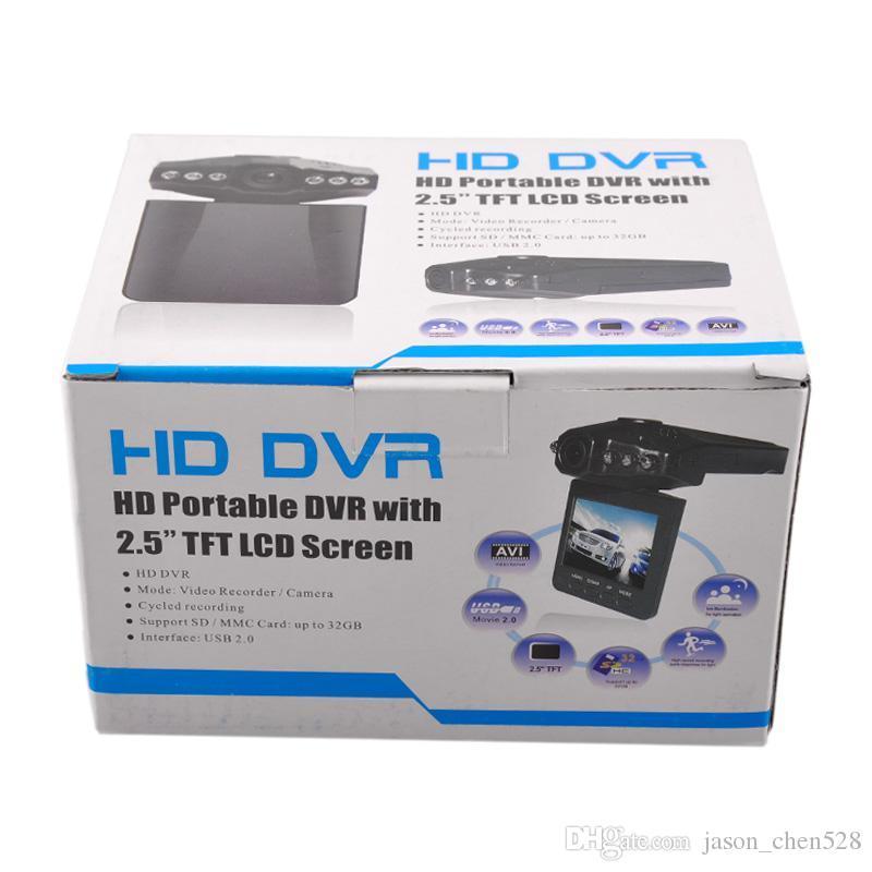 Car DVR 2.5 pollici Car Dash cams registratore videocamera sistema scatola nera H198 versione notturna Video Recorder dash Camera 6 IR LED DHL spedizione gratuita