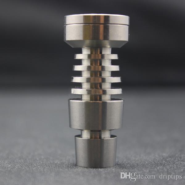 Dwa funkcja Domy Wilnik Tytaniowy Na 24,5 mm i 18.8mm Mężczyzna Grade 2 GR2 Titanium Paznokci Fit Glass Bong Water Rura
