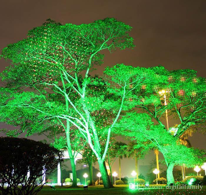 Lazer Firefly Sahne Işıkları Peyzaj Kırmızı Yeşil Projektör Noel Bahçe Sky Yıldız Çim Lambaları LED Işıklandırmalı Açık Su Geçirmez IP65 DHL Tarafından