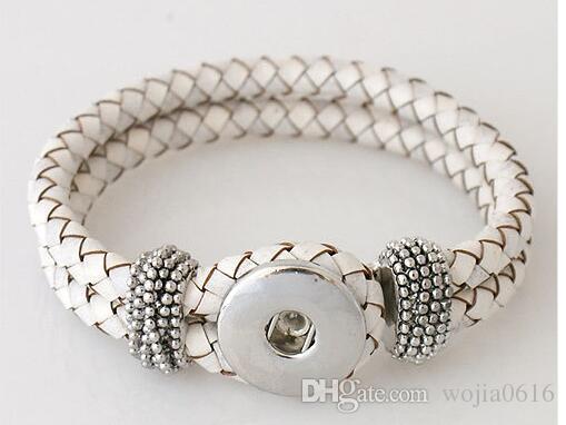 I migliori venditori intercambiabili 21cm in pelle vera pelle braccialetti scatta gioielli monili più popolari in forma ginger snaps kb0801