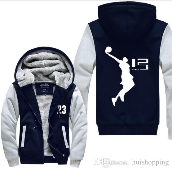 bc1f24dfd 2019 Cool Man Hoodie LeBron James Boy Sweatshirts Pullover Hoodie Men Long  Sleeve Thicken Fleece Zipper Tops Male Hot Sale USA EU Size Plus Size From  ...