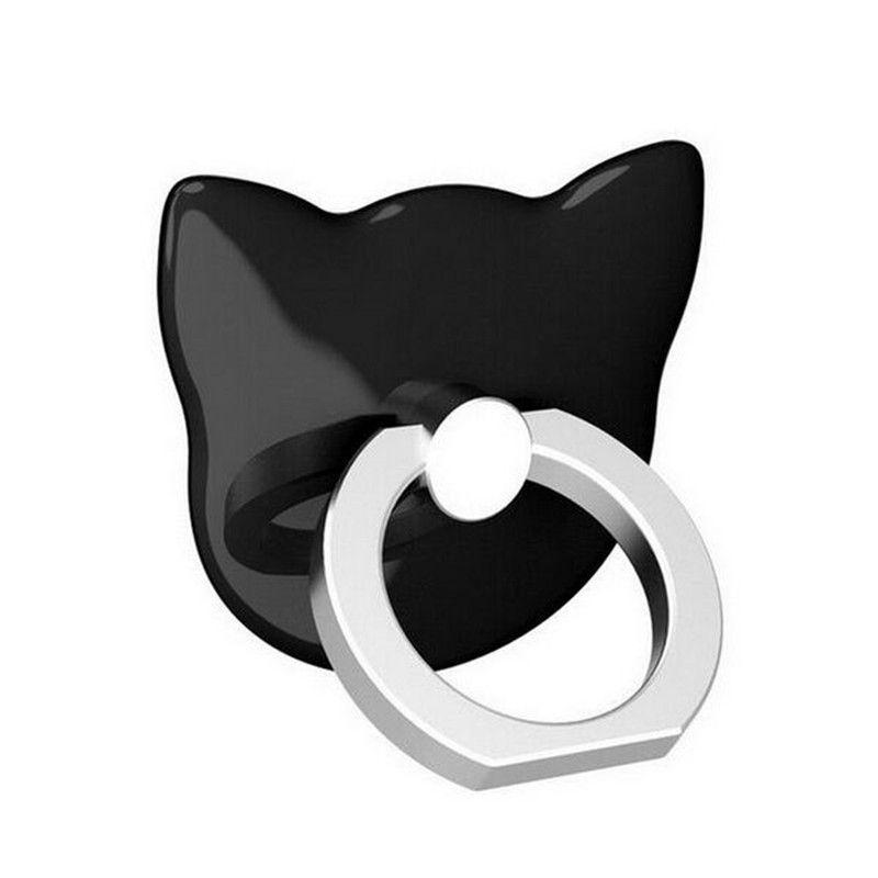 Dedo Universal Cat Universal Ring Back stand titular 360 Rotating Monte Móvel Dedo Telefone aperto preguiçoso Buckle para Samrt Telefone