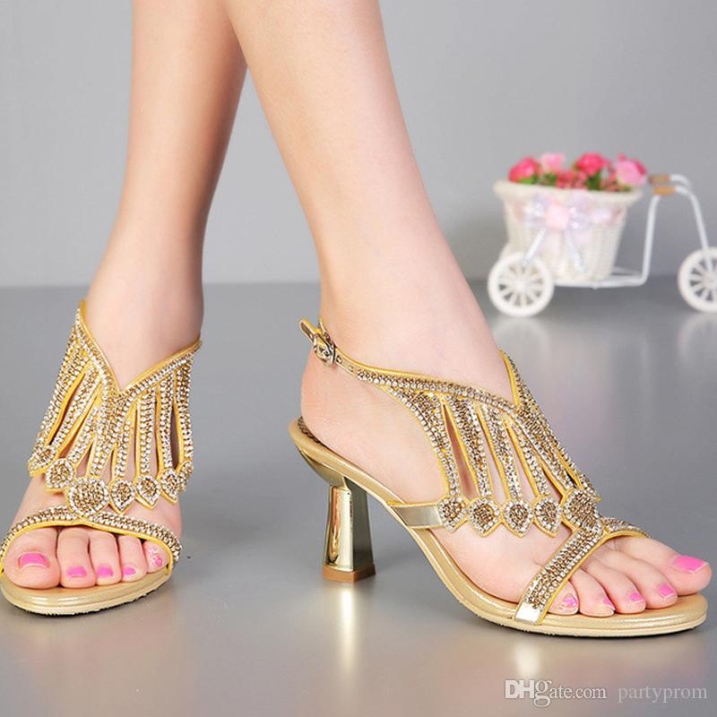 1 Inch Heels For Wedding: Summer Sandals Newest Design Bridal Shoes Fashion Chunky
