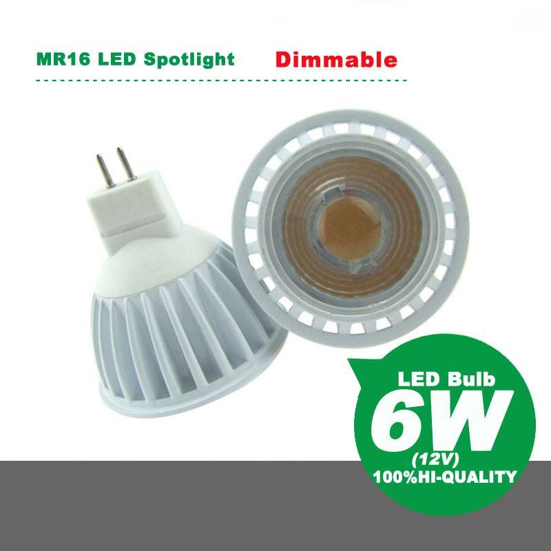 High Compatible Thyristor SCR Dimmable MR16 LED Spotlight 6W LED Lamp Bulb  AC12V Energy Saving Lamp Energy Saving Bulb