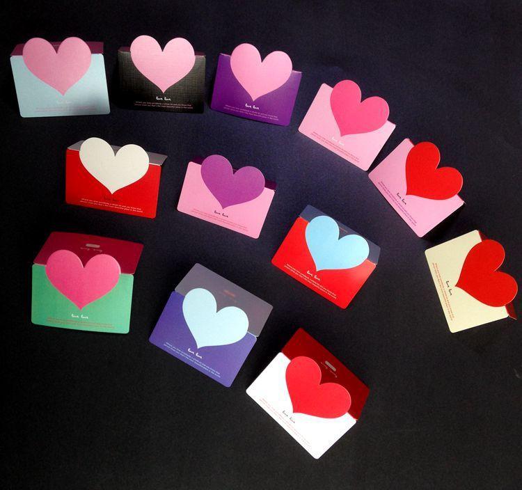 prettybaby creative 3d love heart folding handmade greeting cards