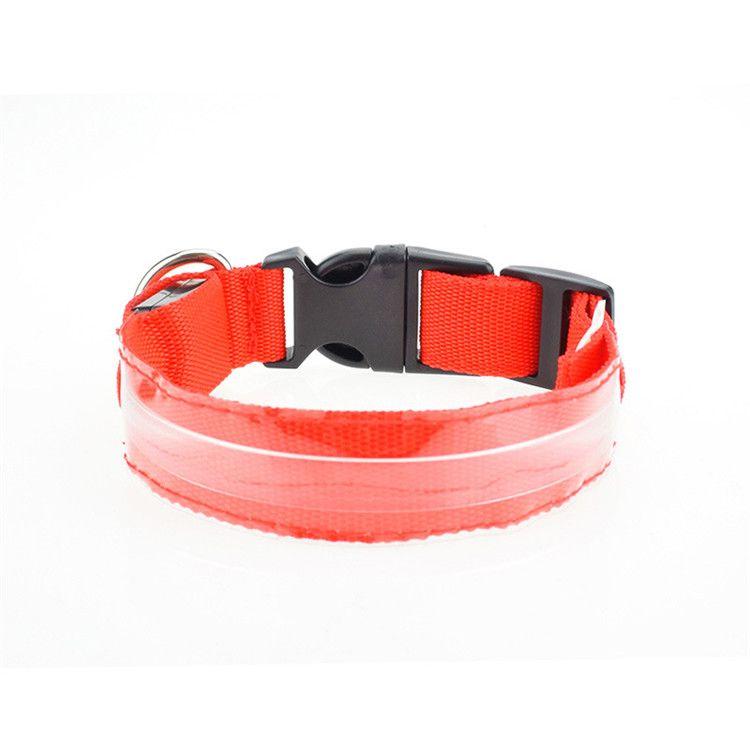 Hot sale LED luminous pets Collar colorful stripe dog collar Luminous pet safety belt pet decoration supplies IA940