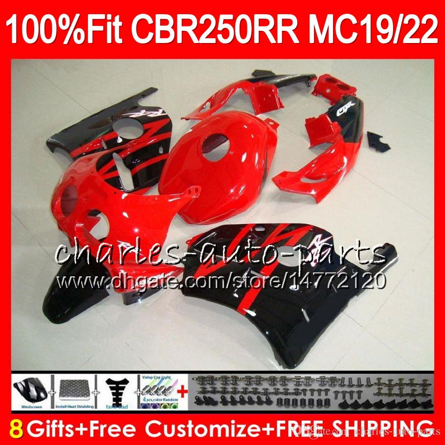 Инъекции для Хонда CBR 250RR новый красный черный CBR250RR 88 89 90 91 92 93 96HM16 250 CBR250 MC19 MC22 рублей 1988 1989 1990 1991 1992 1993 обтекатель