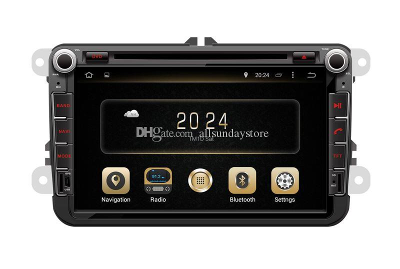 Android 7.1 Car DVD Player GPS Navigation for VW Volkswagen Passat Polo EOS Golf Jetta TouranTiguan Beetle Scirocco w/ Radio BT Stereo