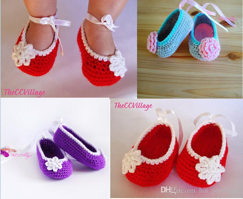 231e3fe54b97 2019 Wholesale Handmade Crochet Baby Shoes