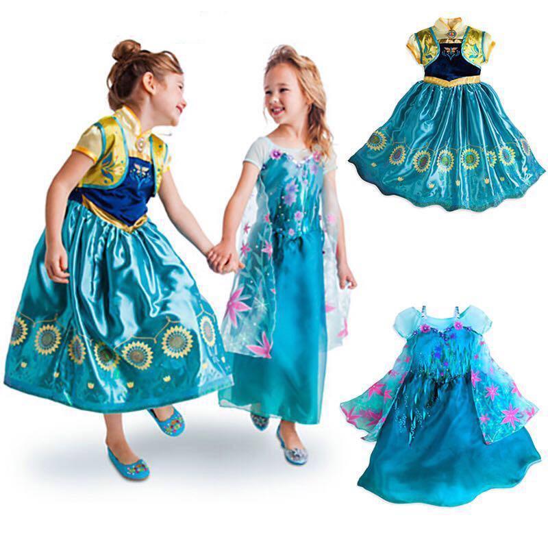 cc75242787e75 Shop Cartoon Clothing Online, Frozen Dress 2015 Frozen Fever Elsa Anna  Dress Princess Formal Dress Girls Party Dresses Summer Kids Lace Dresses ...