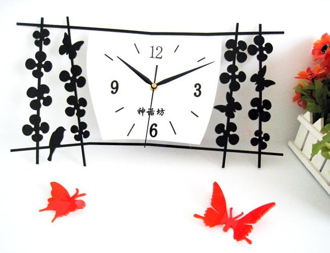 Rustic wall clock brief table birds fashion wall clock
