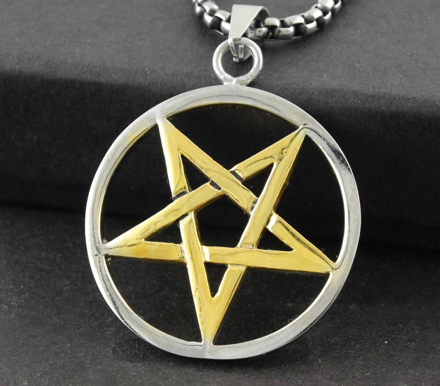 Wholesale mens 316l stainless steel gothic satanic pentacle star wholesale mens 316l stainless steel gothic satanic pentacle star pendant necklace pendants gold necklace for women from rockervogue 2477 dhgate aloadofball Choice Image