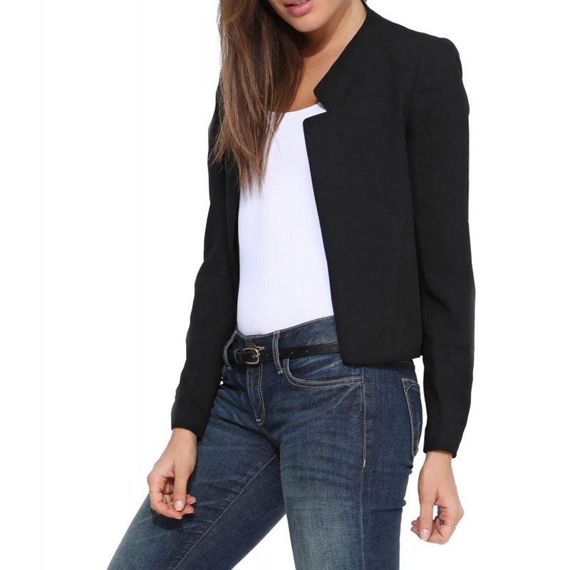 Blazer Женщины 2017 конфеты цвет офис дамы пр костюм пальто тонкий повседневный костюм женские пиджаки женские пиджаки рабочая одежда куртка S-XL