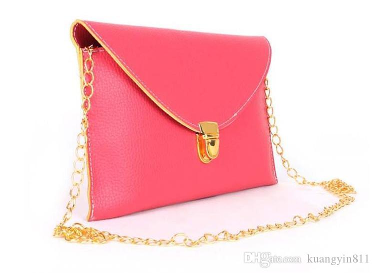 Womens Envelope Clutch Chain Purse Lady Handbag Hot Selling Leather Tote Shoulder Hand Bag