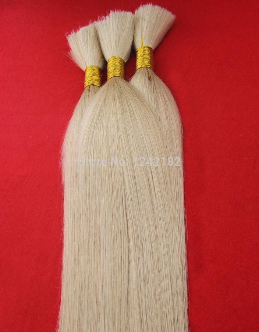 2016 Puer Colore # 60 Biondo Platino Virgin dei capelli 100g / pc di grado 6a brasiliano non trattato Virgin Capelli lisci umani all'ingrosso Certified Capelli