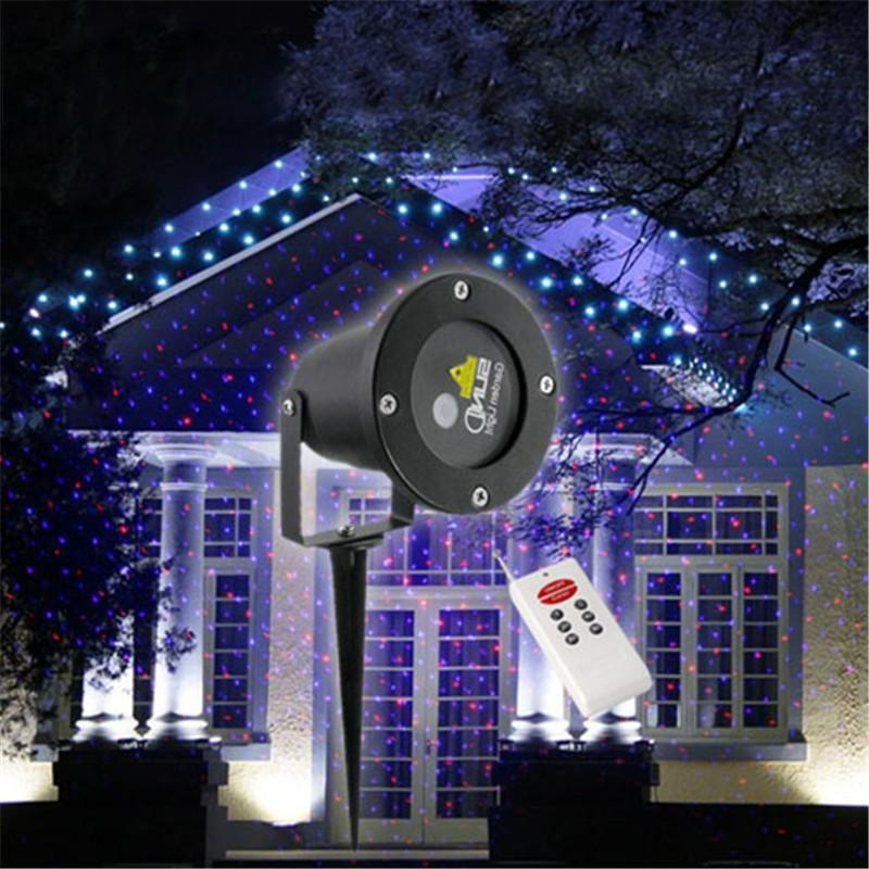 red blue elf laser projector waterproof ip65 outdoor christmas lighting with remote control garden landscape sky lights elf laser projector outdoor