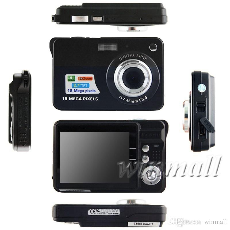 2.7 inch TFT LCD HD 720P 18MP Digital Camera Camcorder CMOS Sensor 8x Zoom Smile Capture Anti-shake Video Camcorder
